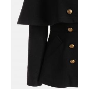 Double Breasted High Waist Short Capelet Coat -