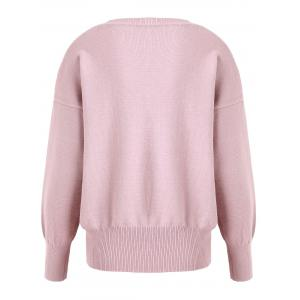 Pink 4xl Plus Size Soft Knit V Neck Sweater | RoseGal.com