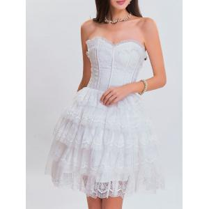 Lace corset white dress