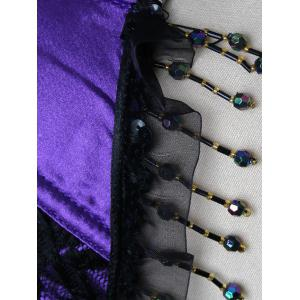 Top corset en satin à lacets -