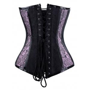 Top Corset à Encolure en Coeur à Lacets -