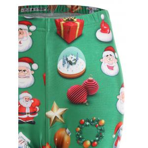 Plus Size Christmas Snowman Santa Claus Leggings -