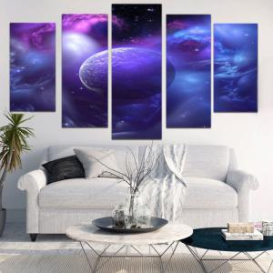 Unframed Star Universe Pattern Canvas Paintings -