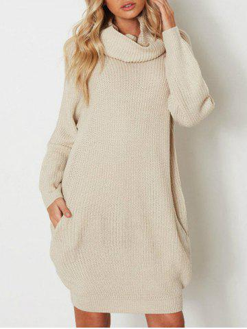Buy Raglan Sleeve Heaps Collar Sweater Dress