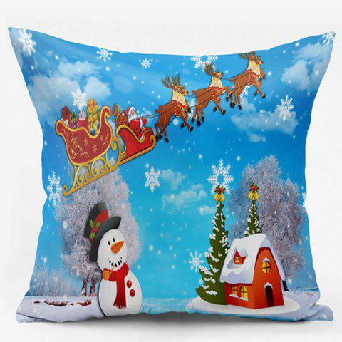 Christmas Snowscape Double Side Printed Pillowcase