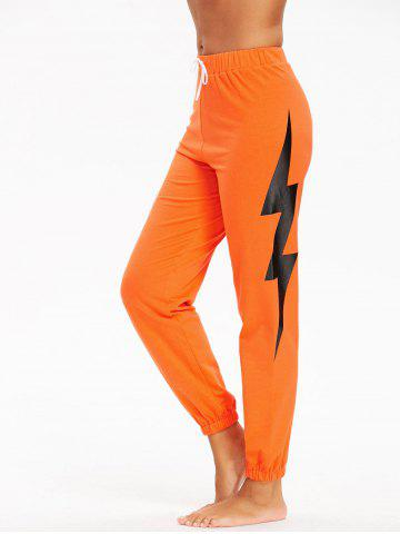 Unique Sports Lightning Printed Drawstring Track Pants