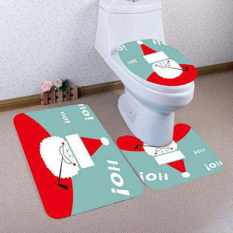 Shops Nonslip Cute Santa Claus Pattern 3Pcs Bath Toilet Mats Set