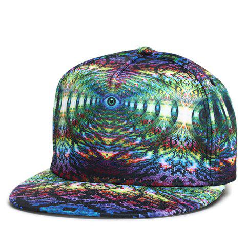 New 3D Graphic Print Hip-Hop Snapback Cap