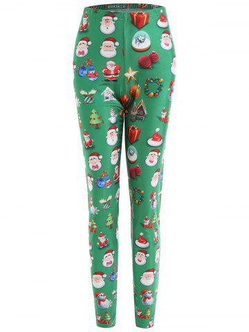 Hot Plus Size Christmas Snowman Santa Claus Leggings