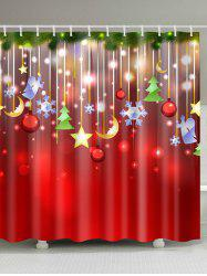 Christmas Waterproof Mouldproof Shower Curtain -
