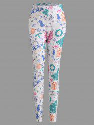 Christmas Tree Sled Snowflake Plus Size Leggings -