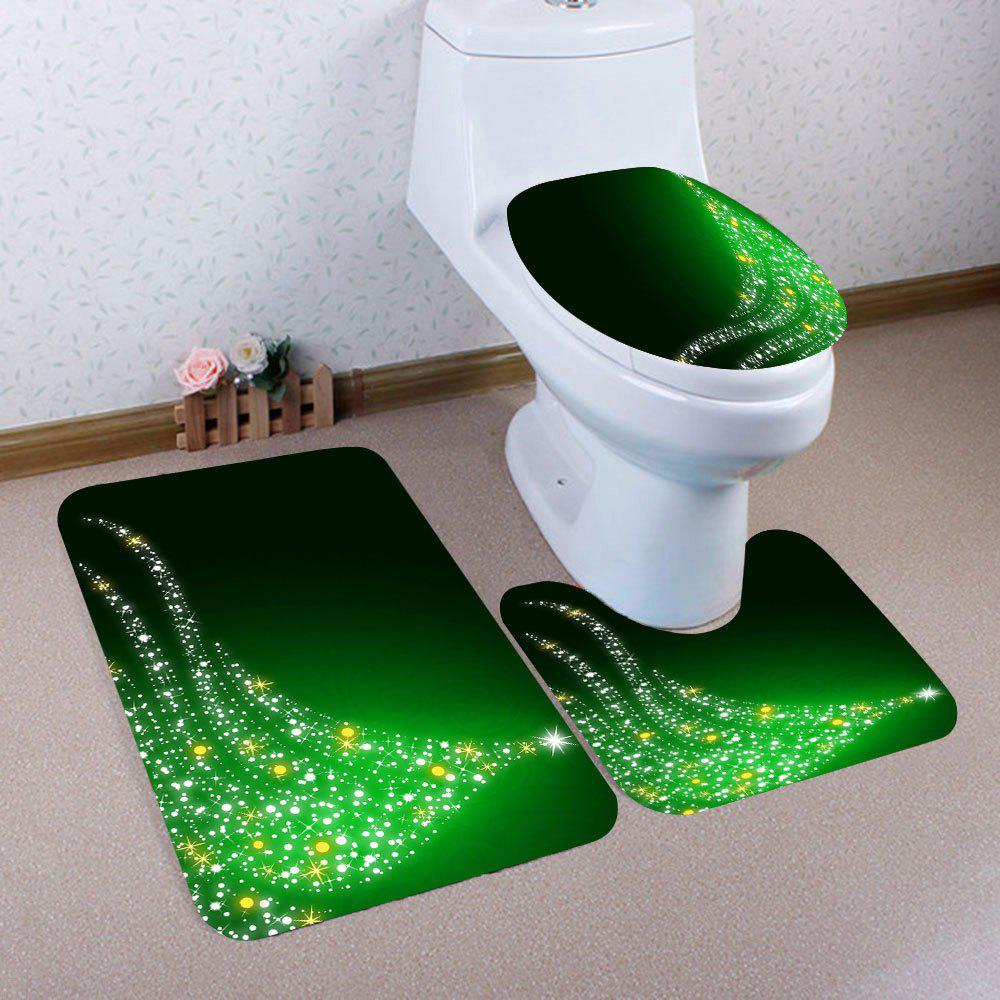 Shop 3Pcs Lighting Christmas Tree Pattern Bath Toilet Mats Set