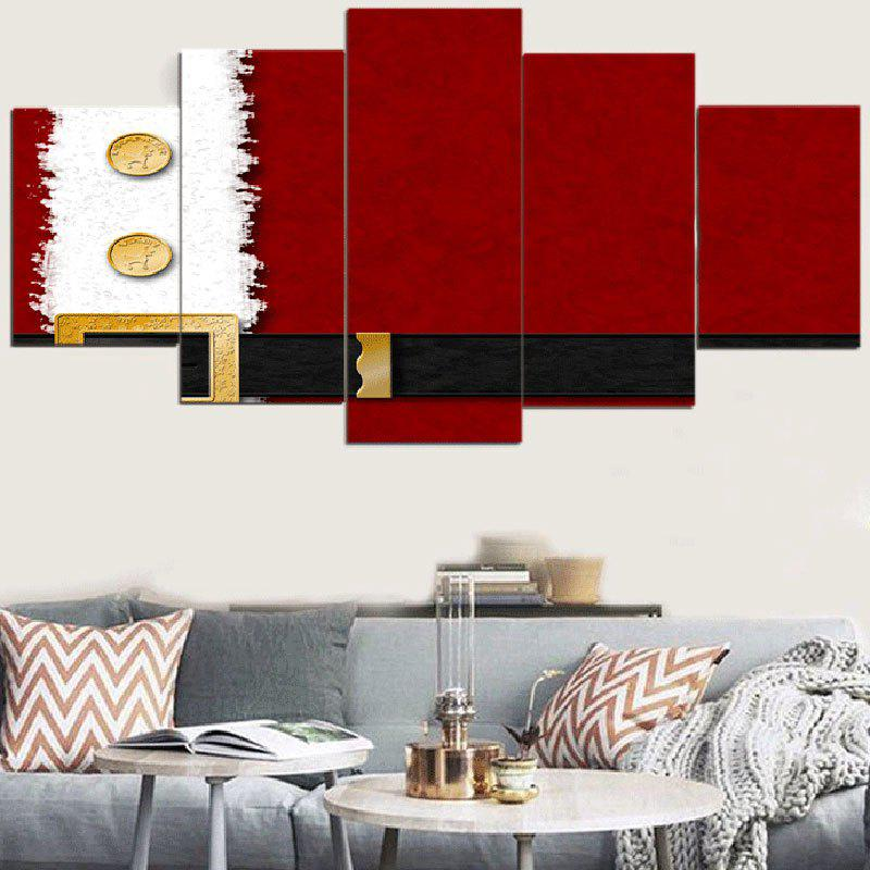 Outfit Christmas Belt Printed Decorative Wall Art Canvas Paintings