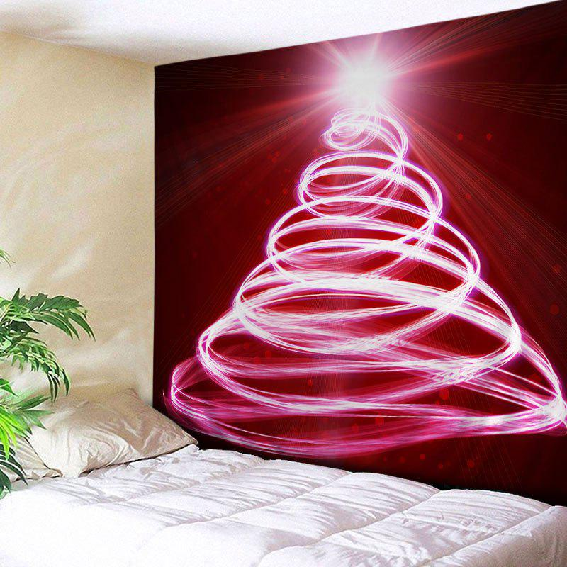 discount christmas lights tree print tapestry wall hanging art decoration