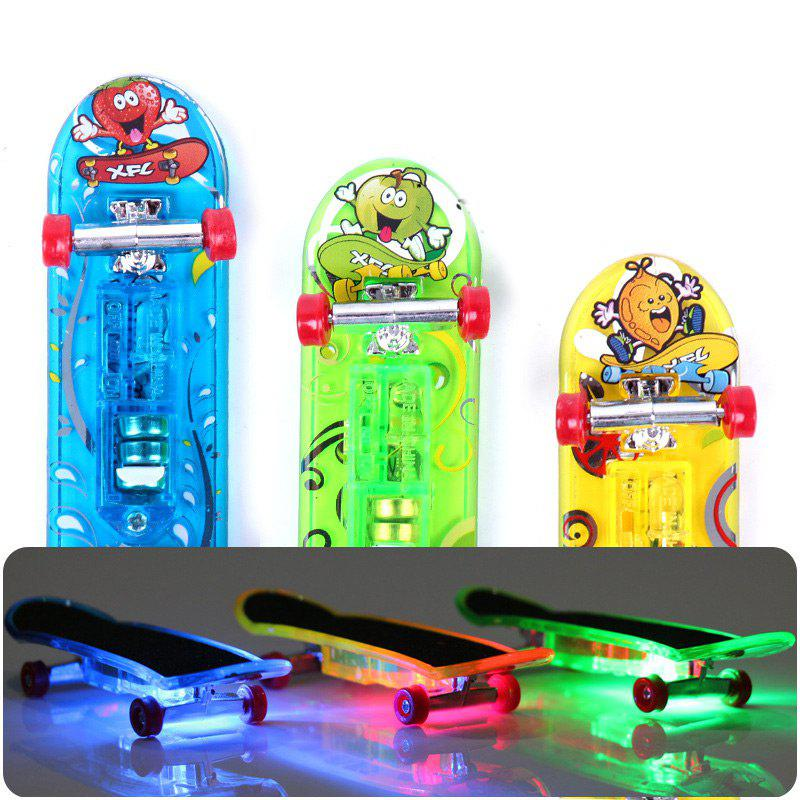 Affordable 3 Pcs LED Light Mini Finger Skateboards