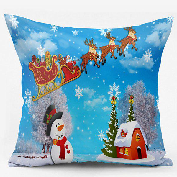 Christmas Snowscape Double Side Printed Pillow Case 232647101