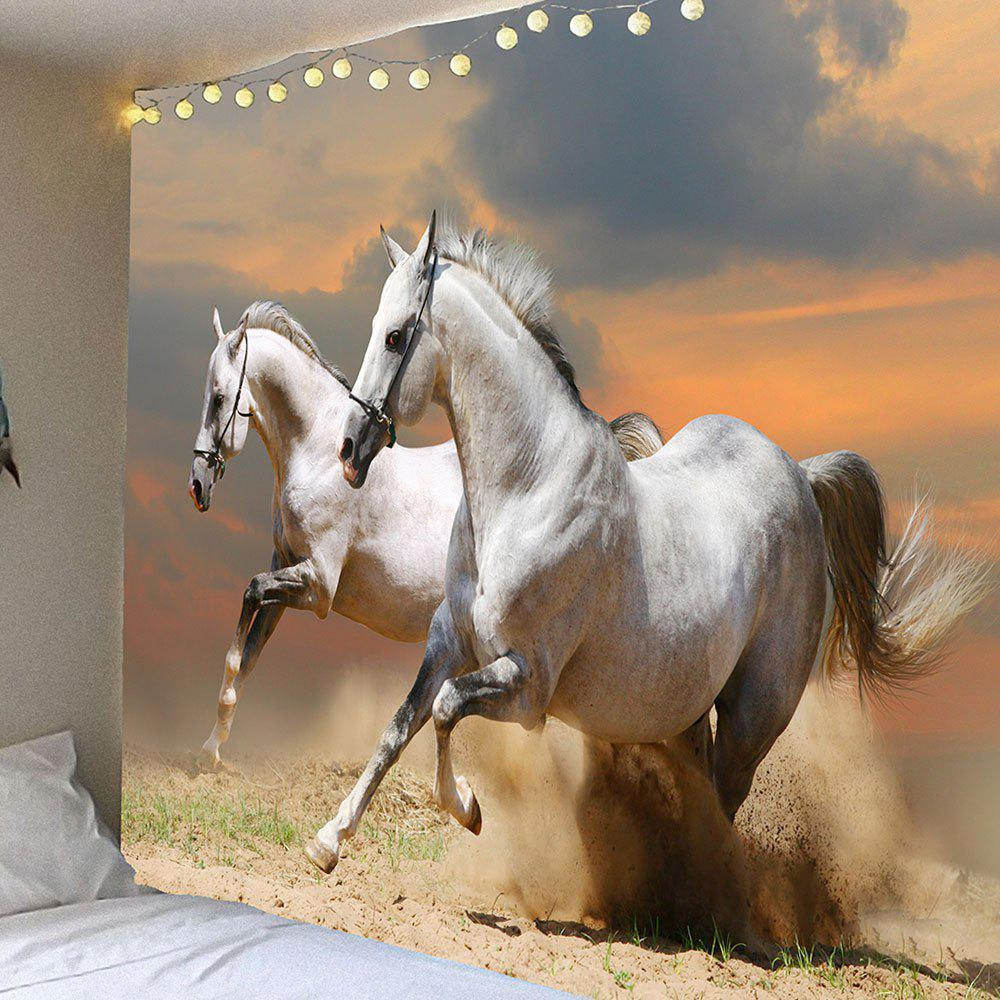 Waterproof Running Horses Pattern Wall Hanging TapestryHOME<br><br>Size: W79 INCH * L71 INCH; Color: COLORMIX; Style: Casual; Theme: Animals; Material: Velvet; Feature: Removable,Washable,Waterproof; Shape/Pattern: Animal; Weight: 0.3900kg; Package Contents: 1 x Tapestry;
