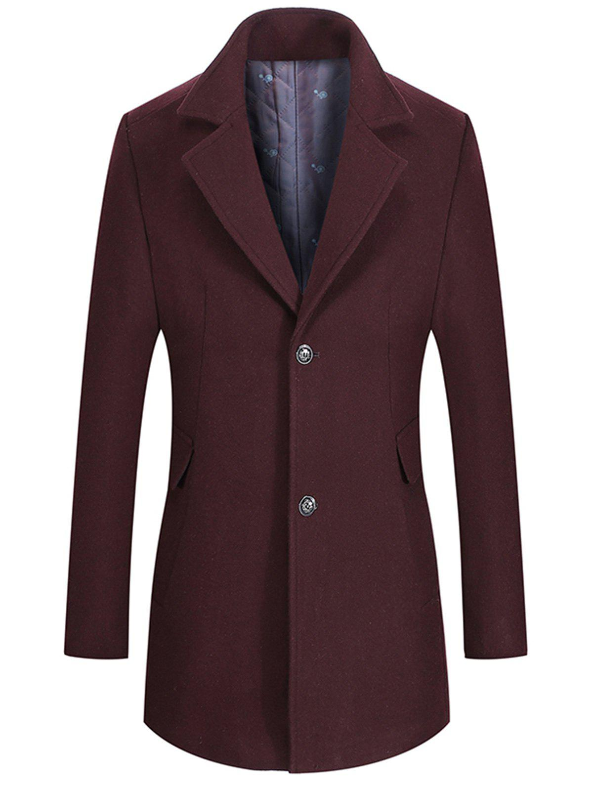 Discount Two Button Notch Lapel Wool Blend Coat