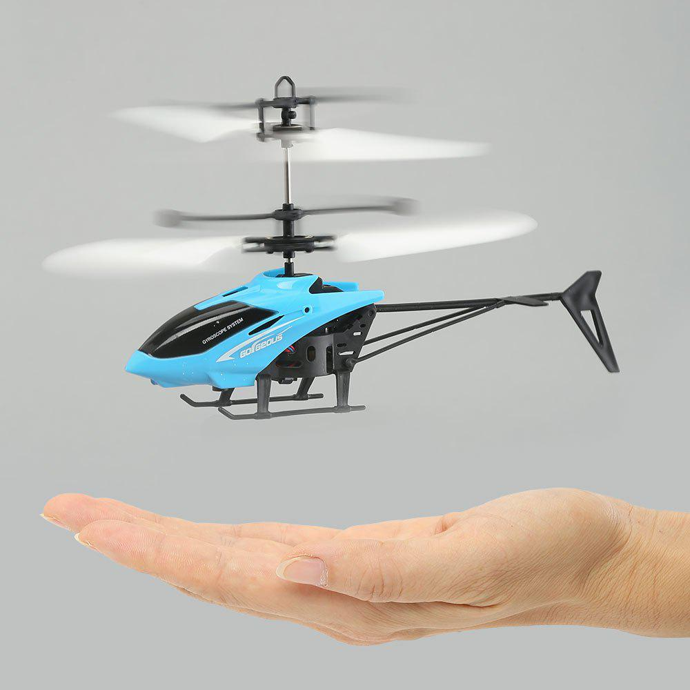 Mini Infrared Induction Flashing Light Flying HelicopterHOME<br><br>Color: BLUE; Products Type: Flying Toy; Style: Novelty; Material: ABS,Plastic; Package Contents: 1 x Flying Helicopter 1 x USB Cable;