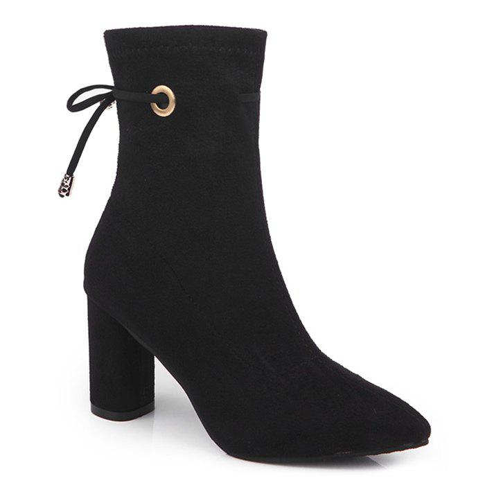 Shops Suede High Heel Lace Up Ankle Boots
