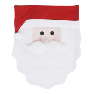 Santa Claus Pattern Christmas Decoration Chair Back Cover -