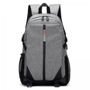 USB Charging Port Striped Backpack -