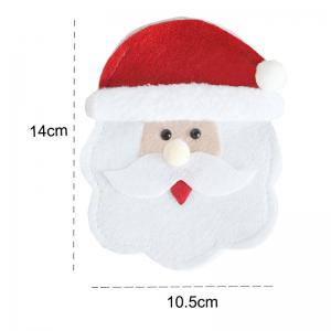 Santa Claus Patterned Knives And Forks Tableware Bag -