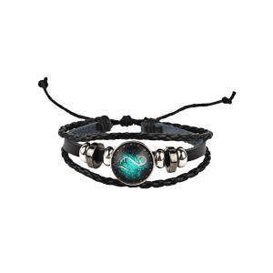 Twelve Constellations Vintage Braid Rope Bolo Bracelet -