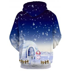Jingle Bells Santa Clause Christmas Reindeer Pullover Hoodie -