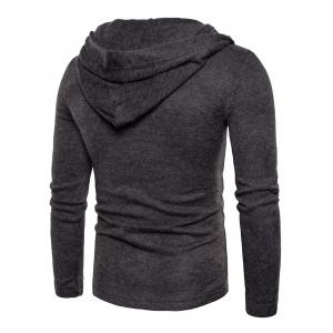Hooded Lace Up Knitted Sweater -
