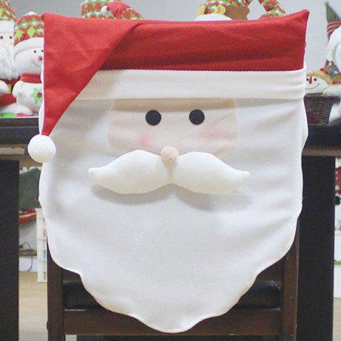 Cheap Santa Claus Pattern Christmas Decoration Chair Back Cover
