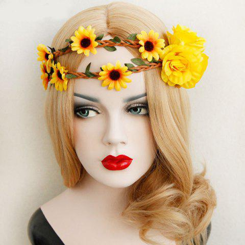 Shop Braid Sunflower Leaf Elastic Hairband