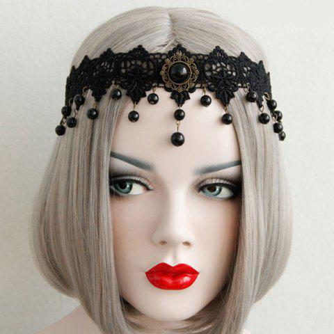 Buy Gothic Flower Beads Lace Elastic Hairband