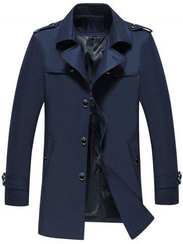 Epaulet Design Single Breasted Trench Jacket