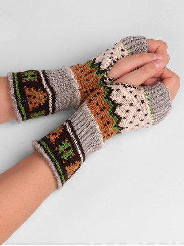 Shop Christmas Tree Decorated Crochet Knit Fingerless Gloves