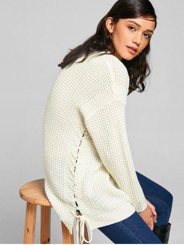 Sale Chunky Lace-up Tunic Sweater