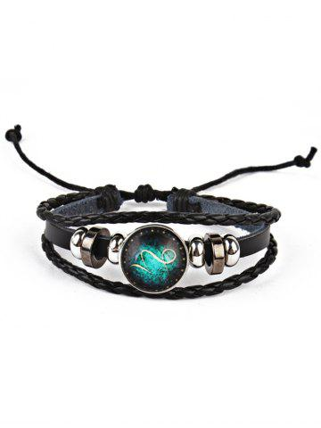 Discount Twelve Constellations Vintage Braid Rope Bolo Bracelet