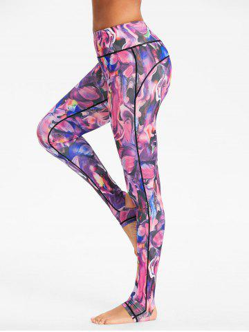 Store High Rise Sports Pattern Stirrup Leggings