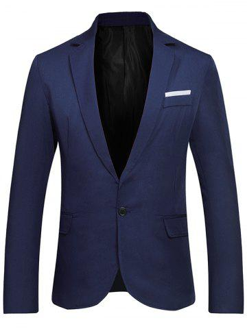 Trendy Flap Pockets Lapel One Button Formal Blazer