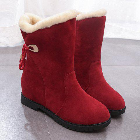 Affordable Faux Fur Tassels Snow Boots
