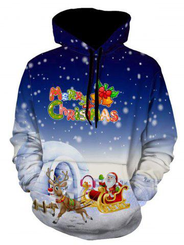 Shops Jingle Bells Santa Clause Christmas Reindeer Pullover Hoodie