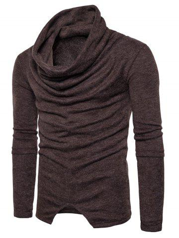 Fashion Piles Collar Asymmetric Sweater