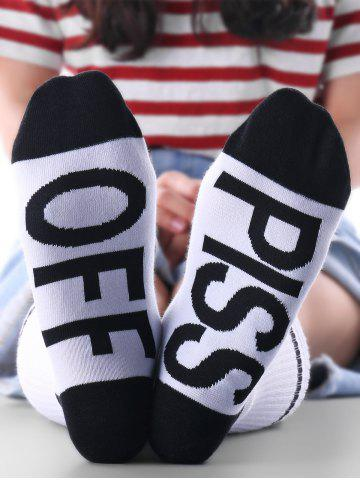 PICC OFF Pattern Kintting Crew Socks