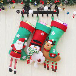 3Pcs Decorative Christmas Candy Socks Hanging -