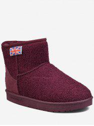 The Union Flag Suede Snow Ankle Boots -
