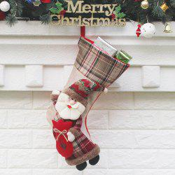 Candy Gift Bag Santa Claus Patterned Christmas Sock -