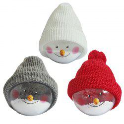 3Pcs Transparent Ball Dolls Christmas Decorations -