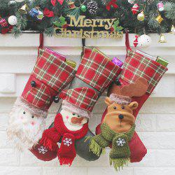 Hanging Decoration Supplies 3Pcs Christmas Socks -