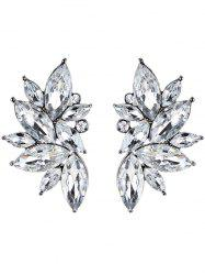 Statement Faux Crystal Rhinestone Earrings -