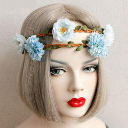 Leaf Flower Braid Elastic Hairband -